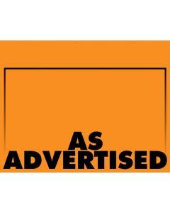 Fluorescent As Advertised Orange - 1-UP