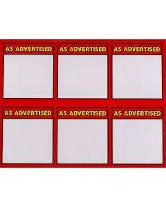 3-Color As Advertsied 6 UP - 3CAA6U