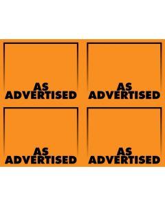 Fluorescent As Advertised Orange - 4-UP