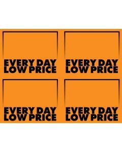 Fluorescent Everyday Low Price Orange - 4-UP