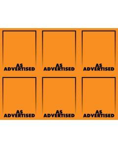 Fluorescent As Advertised Orange - 6-UP