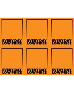 Fluorescent Everyday Low Price Orange - 6-UP
