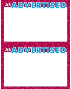2-Color NEW As Advertised RED 2 Up - AAB2U