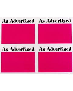 2-Color As Advertised Pink - 4 UP