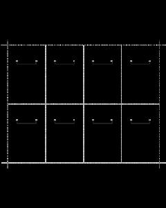 Generic Vinyl - Blank 8Up Bib Tag