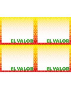 2-Color El Valor 4-UP