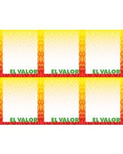 2-Color El Valor 6-UP