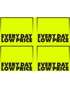 Fluorescent Everyday Low Price Yellow - 4-UP