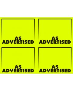 Fluorescent As Advertised Yellow - 4-Up