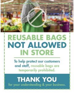 No Reusable Bags Flyers