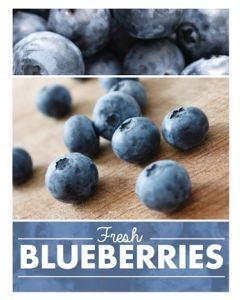 Poster Produce - Blueberries
