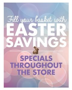 Poster - Easter Savings