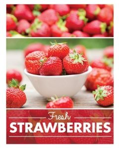 Poster Produce - Strawberries
