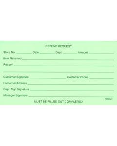 Refund Request Form