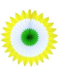 "Spring - Yellow/White/Green Spring Fan 27"""