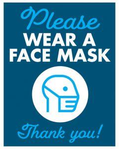 Face Mask Iron Man - Blue